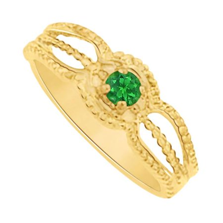 Fine jewelry vault ubnr81390y14e may birthstone emerald for Walmart jewelry mothers rings