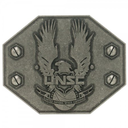 Belt Buckle - Halo - New UNSC United Nations Space Anime Licensed bb0edohlo ()