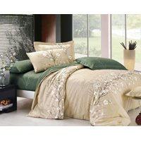 Swanson Beddings Cherry Blossom 3-Piece 100% Cotton Bedding Set: Duvet Cover and Two Pillow Shams (King)