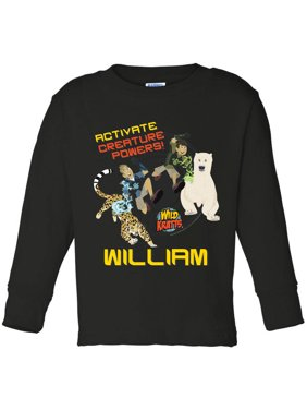 Personalized Activate Creature Toddler Boy Black Long Sleeve Tee