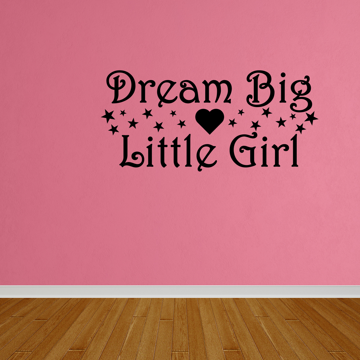 Wall Decal Quote Dream Big Little Girl Girls Bedroom Wall Art Decal DP158