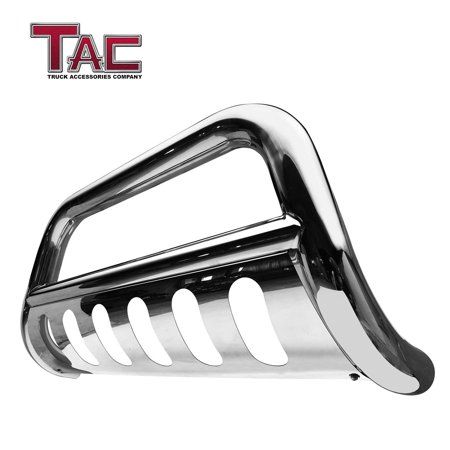 "TAC Bull Bar for 2019 Dodge Ram 1500 (Excl. 2019 Ram 1500 Classic) Truck Pickup 3"" Stainless Steel Front Bumper Grille Guard Brush Guard with skid plate Off Road (Dodge Ram Brush Guards And Bull Bars)"