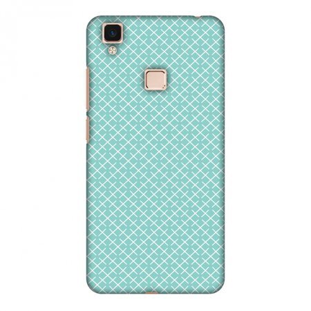 Pastel Checker - Vivo V3Max Case, Premium Handcrafted Designer Hard Shell Snap On Case Shockproof Printed Back Cover with Screen Cleaning Kit for Vivo V3Max, Slim, Protective - Checkered In Pastel
