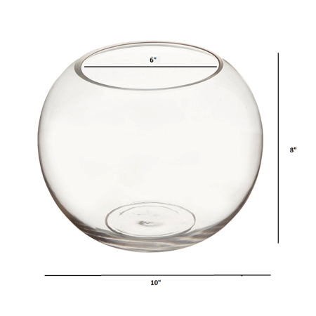 "10"" x 8""  Clear Bubble Bowl Vase"