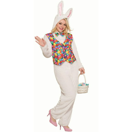 Easter Bunny Adult Jumpsuit with Vest