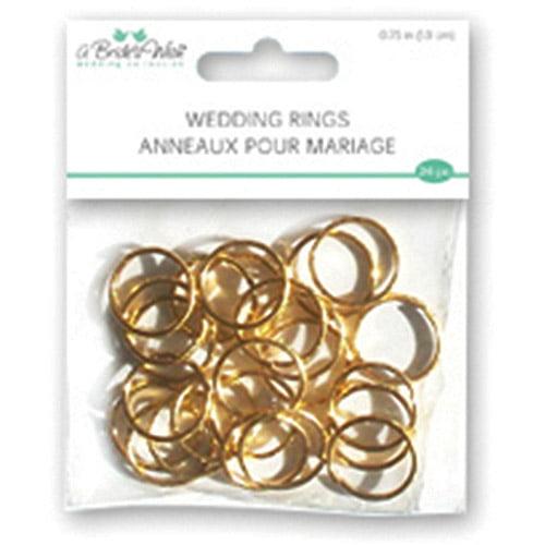 """Wedding Rings, .75"""", 24pk"""