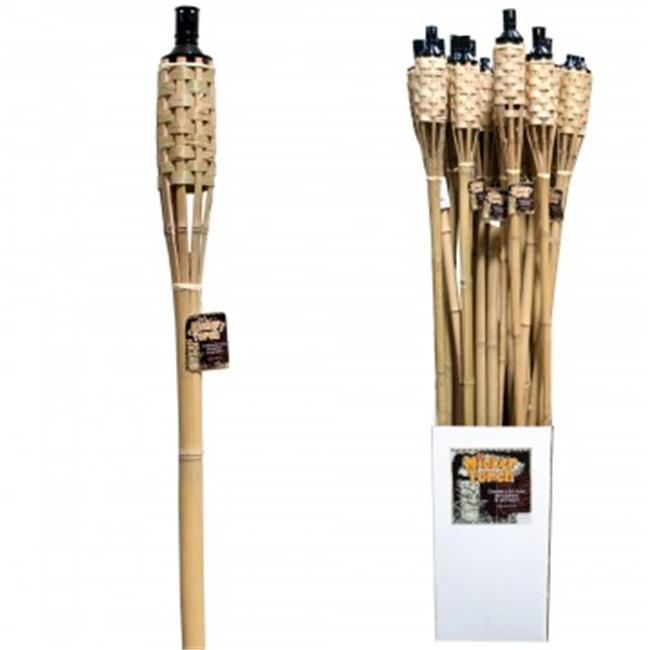 Bulk Buys OL977-48 60 in. Natural Bamboo Wicker Tiki Torc...