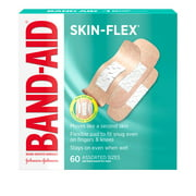 Band-Aid Brand Skin-Flex Adhesive Bandages, Assorted Sizes, 60 ct