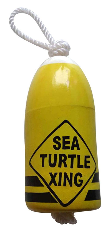Sea Turtle Xing Yellow Fishing Marker Buoy