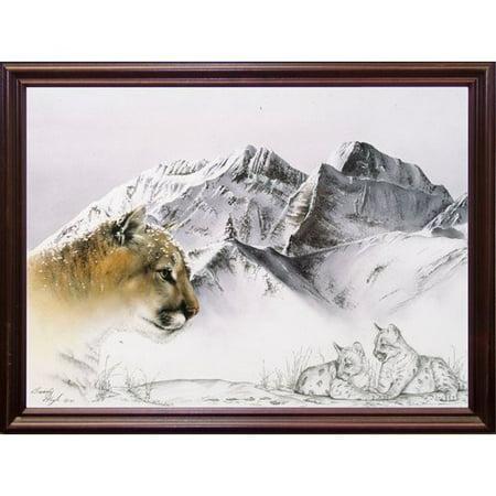 Loon Peak 'Cougar' Graphic Art Print (Cougar Halloween)