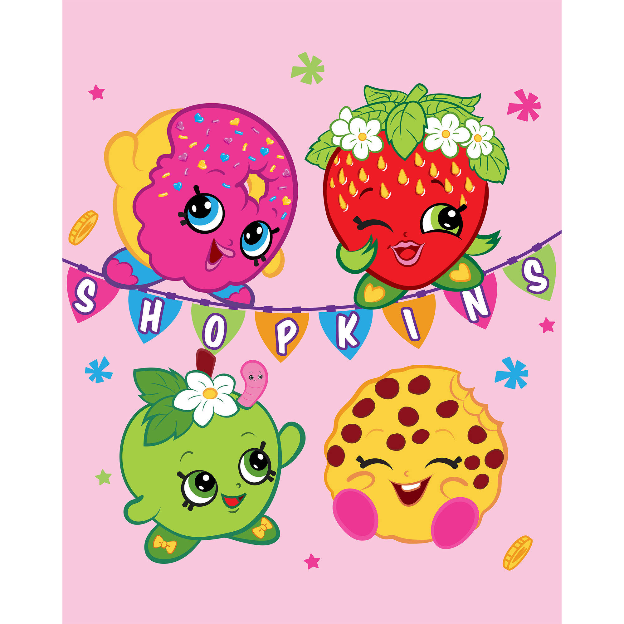 "Shopkins Banner 46"" x 60"" Silk Touch Throw"