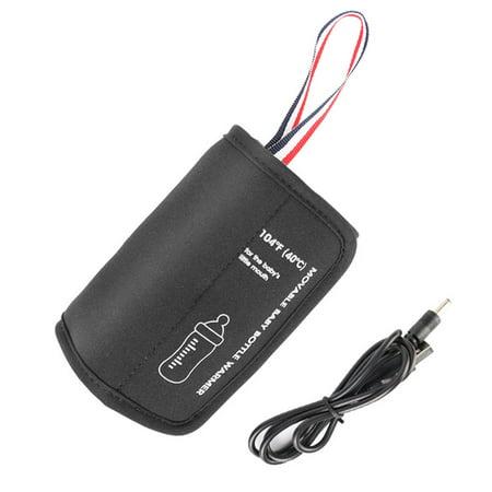 Chauffe-biberon USB Chauffe-tasses /à Lait Chauffe-Lait Maternel Electrique Sac Housse Chauffe-Lait Portable Couvercle de La Bouteille Thermostat dIsolation Jaune