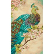 Dimensions Indian Peacock Counted Cross Stitch Kit, 14 Count Natural Aida, 9'' x 15''