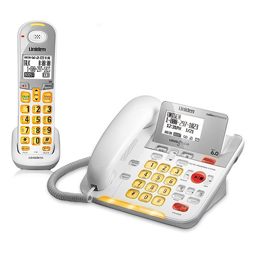 uniden d3098 corded cordless phone with large backlit lcd display rh walmart com Manual Uniden Loud and Clear Uniden Loud and Clear Telephones