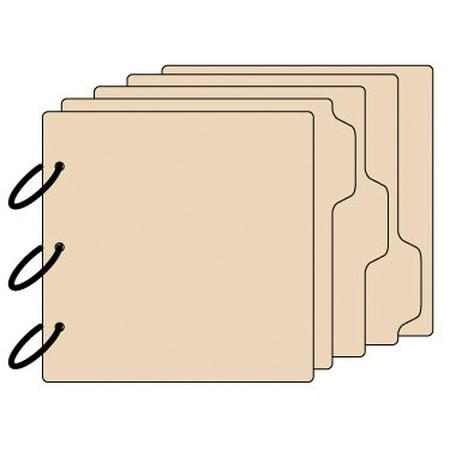 Tabbed Chipboard Album - Clear Scraps 3-Tab Chipboard Album 8