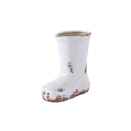 Antique White Ceramic Single Boot Planter Walmart Com