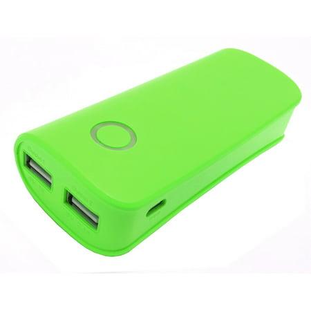 Dual USB Portable Power Bank Backup 7800mAh External Battery for Cellphones -