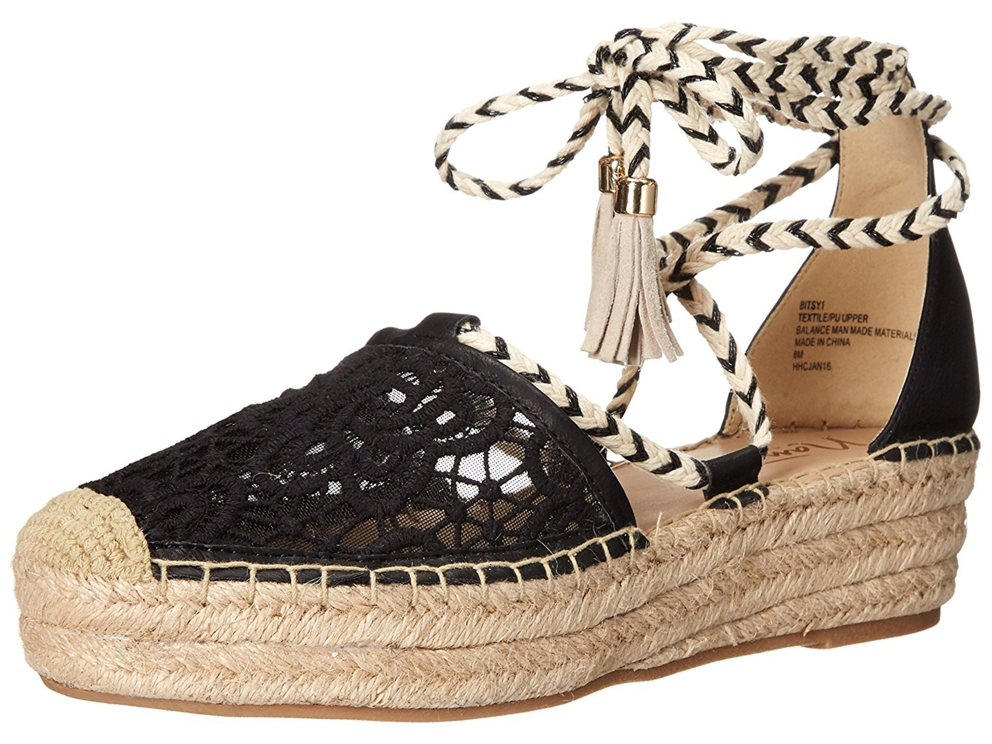 Nanette Lepore Womens Bitsy1 Closed Toe Casual Espadrille Sandals