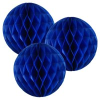 Just Artifacts Tissue Paper Honeycomb Ball (Set of 3, 6inch, Blueberry)
