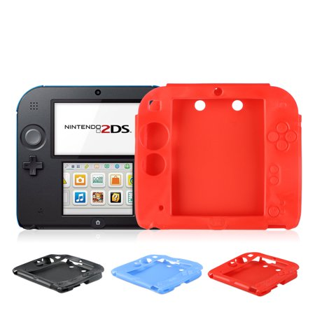 meet 4085e c4816 Protective Soft Silicone Rubber Gel Skin Case Cover for Nintendo 2DS