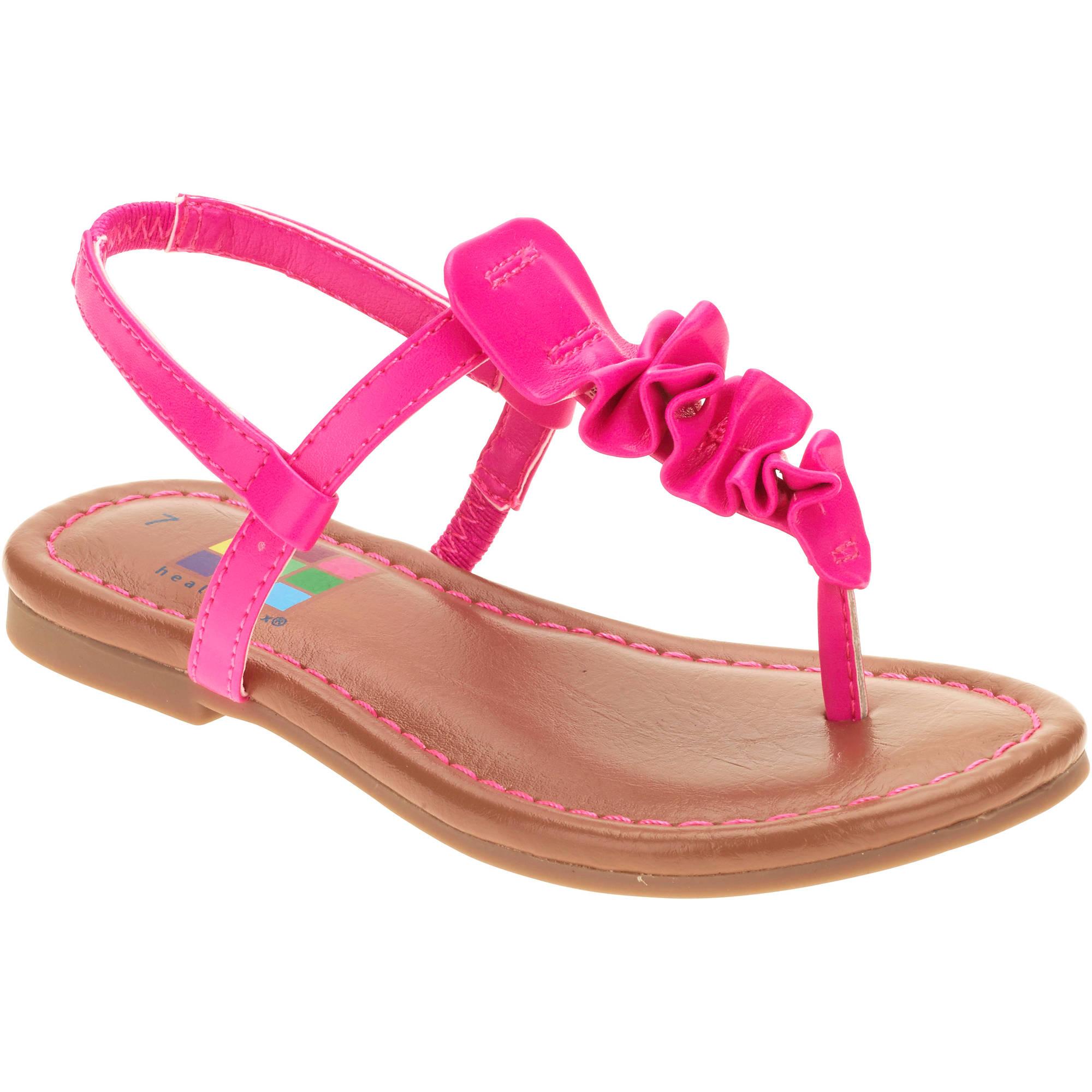 Healthtex Girls' Toddler Ruffle Toe Sandal