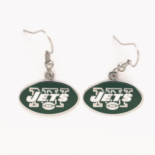 New York Jets Dangle Earrings