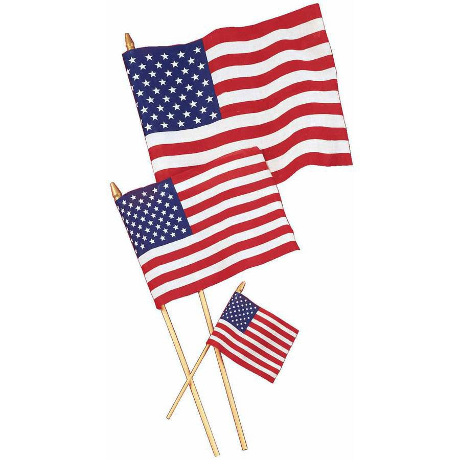 "Patriotic 4"" x 6"" Cloth Flag"