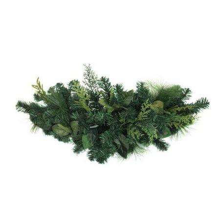 """30"""" Assorted Green Foliage Christmas Door Swag - Unlit - image 1 de 1"""