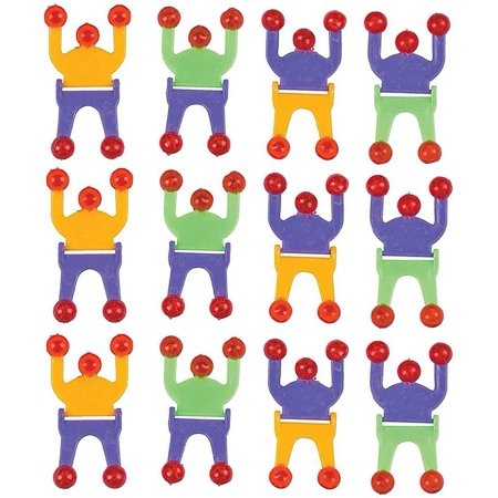 Wall Climber Crawler Sticky Men - 2.75 Inches - Pack Of 12 - Sticky Climbers Assorted Colors – For Kids Great Party Favors, Bag Stuffers, Fun, Toy, Gift, Prize, Piñata Fillers - By Kidsco - Good Halloween Game Prizes