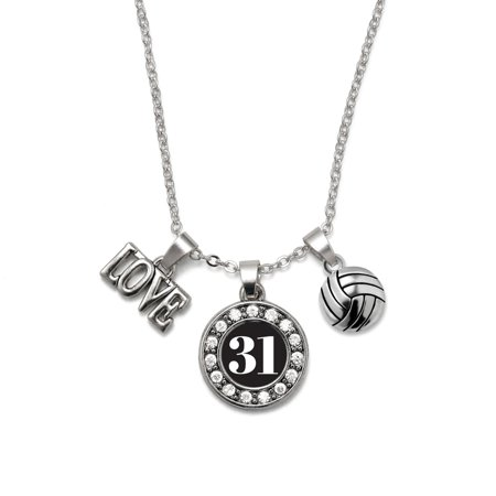 Sports Number Necklace (My Sports Number Volleyball Necklace- Number)