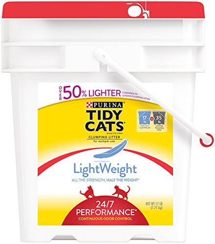 LightWeight 24/7 Performance Clumping Cat Litter, Pouch F...
