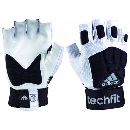 Adidas Techfit Adult Half Fingered Football Lineman Gloves
