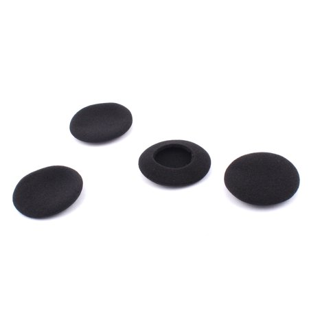 Unique Bargains 4pcs Black Sponge Earphone Headset Headphone Foam Covers Cushions Pad Protector