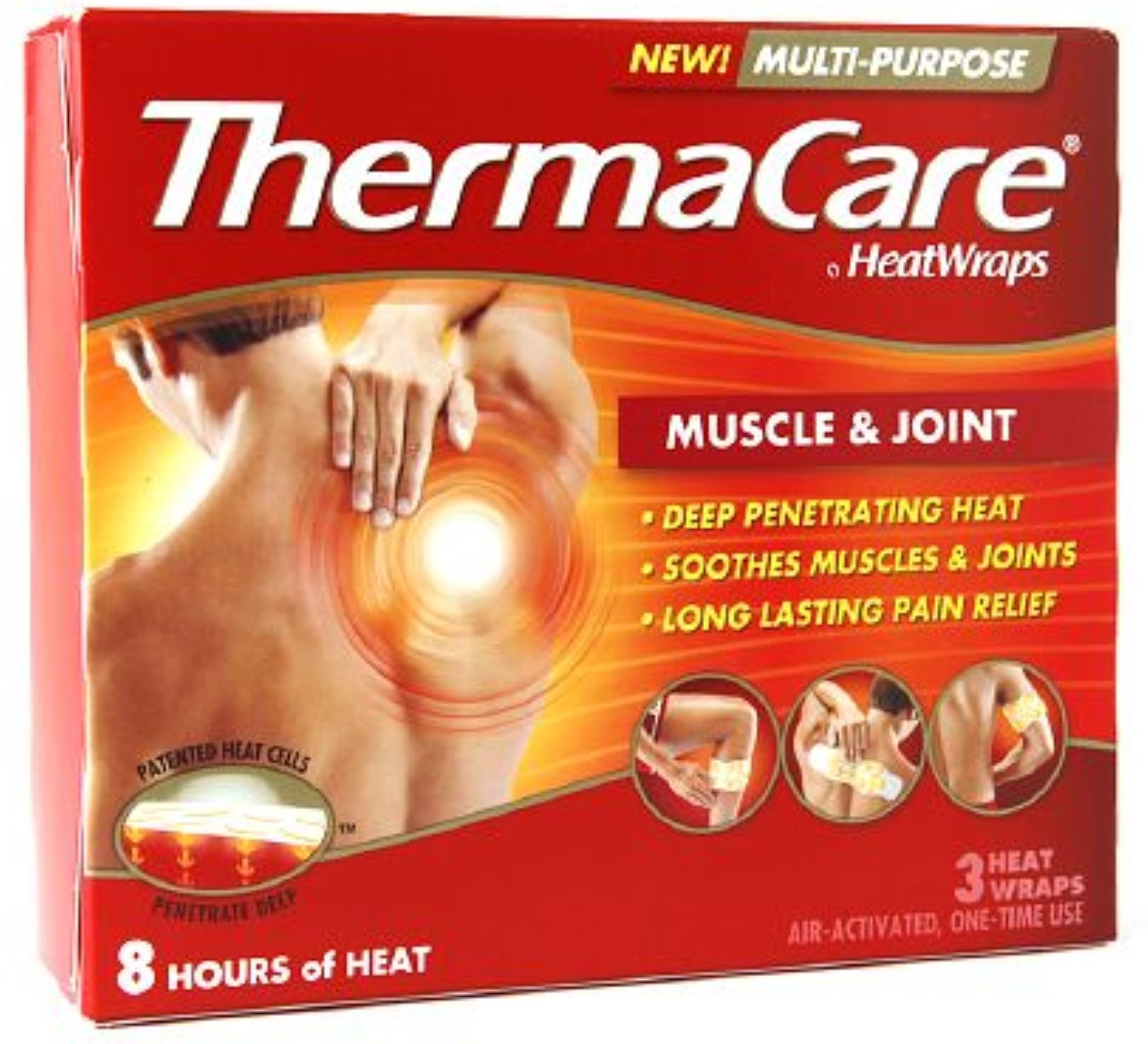 ThermaCare Heat Wraps Muscle & Joint 3 ea (Pack of 6)