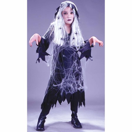 Spider Web Gauze Ghost Child Halloween Costume