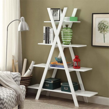 Pemberly Row 4 Shelf Bookcase in White - image 3 of 3