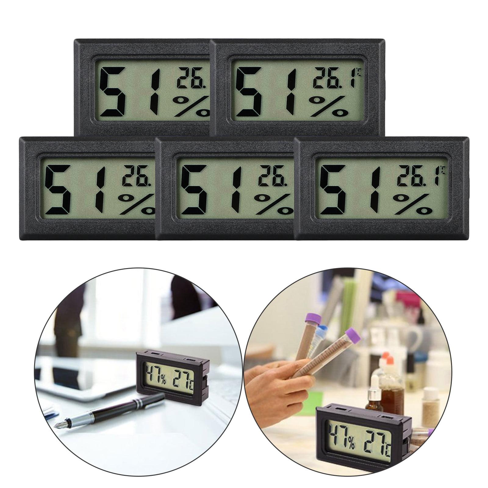5 pieces Mini LCD Digital Indoor Temperature Humidity Meter Thermomètre Hygromètre