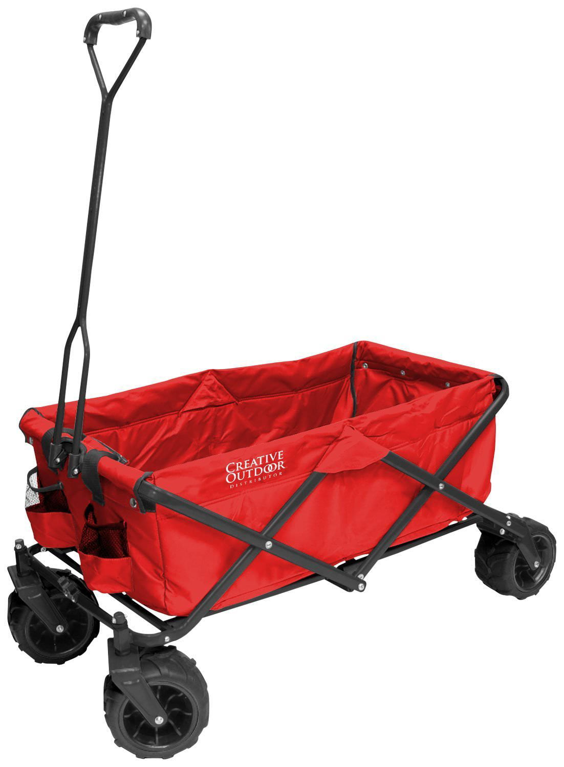 All-Terrain Folding Wagon, (Red) Multipurpose Cart by CREATIVE OUTDOOR DISTRIBUTOR USA
