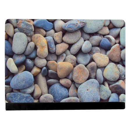 Gray Pebbles Found Along Oceanside At Beach Apple Ipad Pro 12 9 Inch Leather Flip Tablet Case