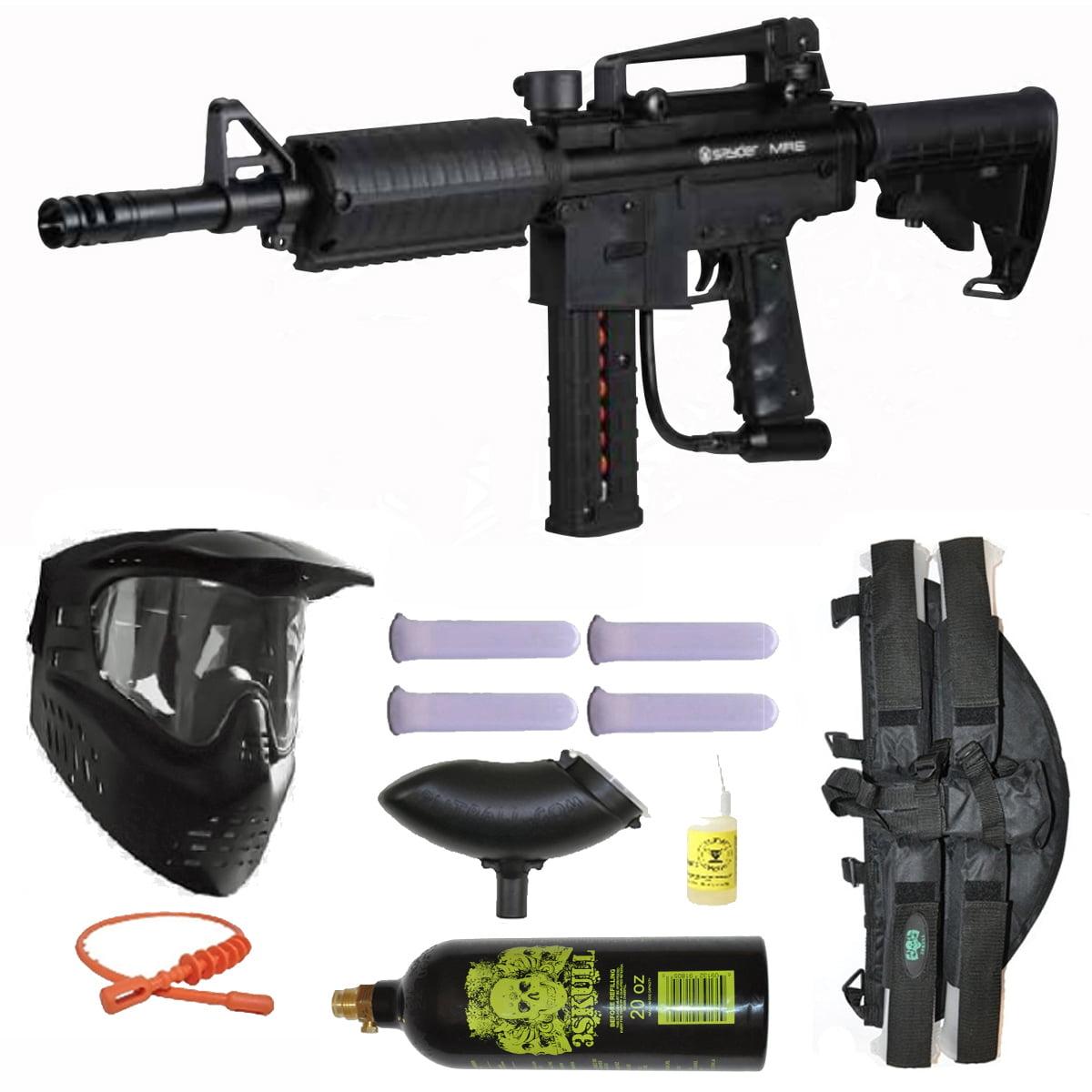 Spyder MR6 Paintball Marker Gun Magazine Fed 3Skull 4+1 Mega Set Black by
