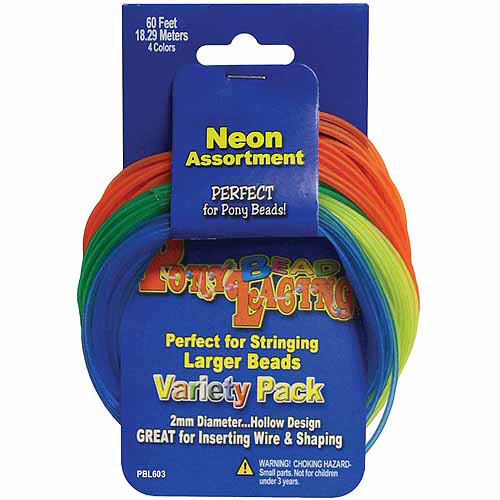 Pepperell Pony Bead Lacing Variety Pack, 60 ft