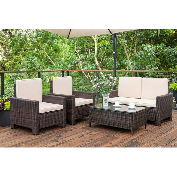 Walnew 4 Pieces Outdoor Patio Furniture