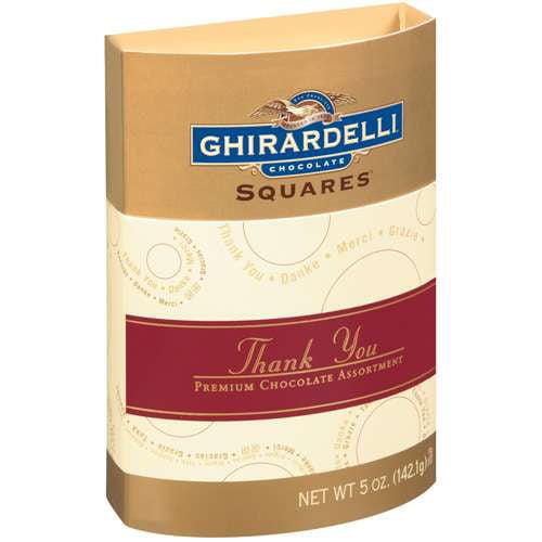 Ghirardelli Chocolate: Squares Thank You Premium Assorted Chocolate, 5 oz