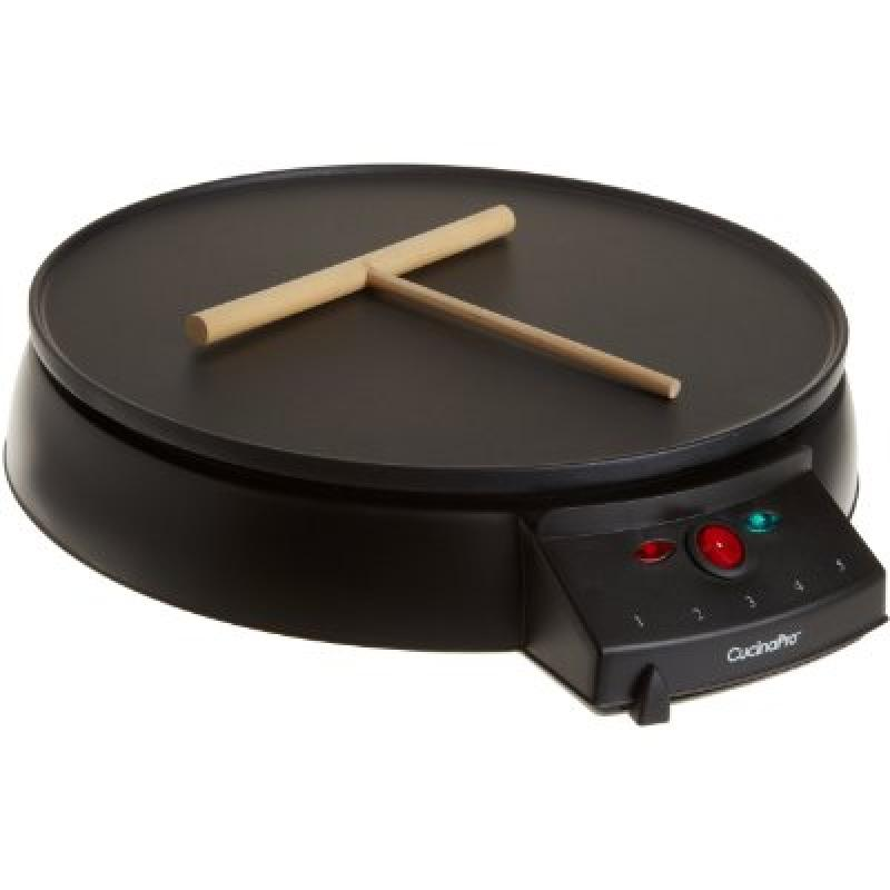 Crepe Maker and Non-Stick 12 Griddle by CucinaPro (1448) - Includes Spreader and Recipe Guide