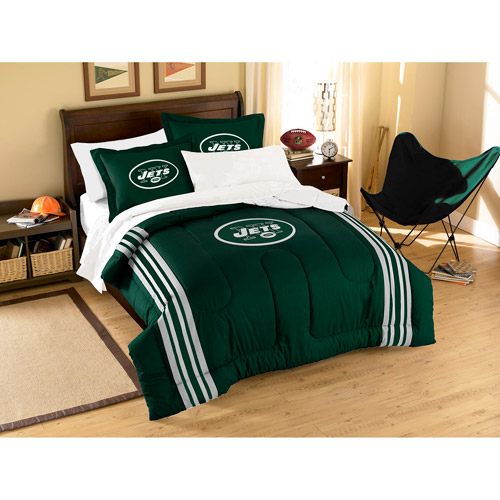 NFL Applique 3-Piece Bedding Comforter Set, New York Jets