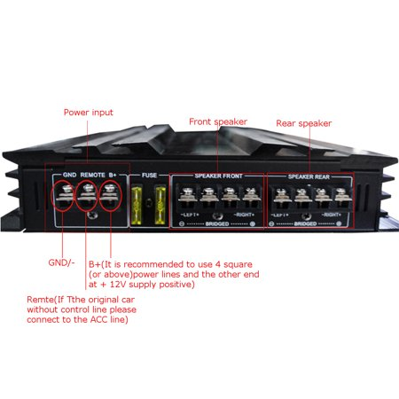 Powerful 5800 Watt 4 Channel 12V Car High Power Stereo Audio Amplifier Amp Speaker Subwoofer Stereo Amp For Car Auto Vehicle Support 4 Speakers 2/4 Ohm - image 11 of 13