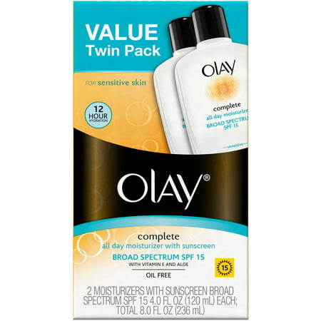 Olay Complete All Day Facial Moisturizer with Broad Spectrum SPF 15 for Sensitive Skin Twin (Olay Complete Spf 30 Sensitive Skin Reviews)