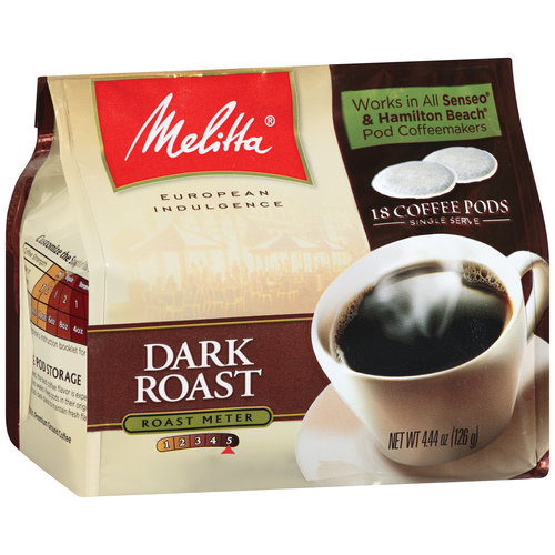 Melitta Dark Roast Coffee Pods, 18ct