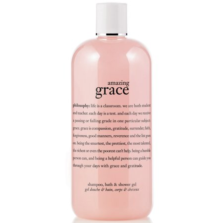 Philosophy Amazing Grace Shampoo, Shower Gel & Bubble Bath, 16 Oz