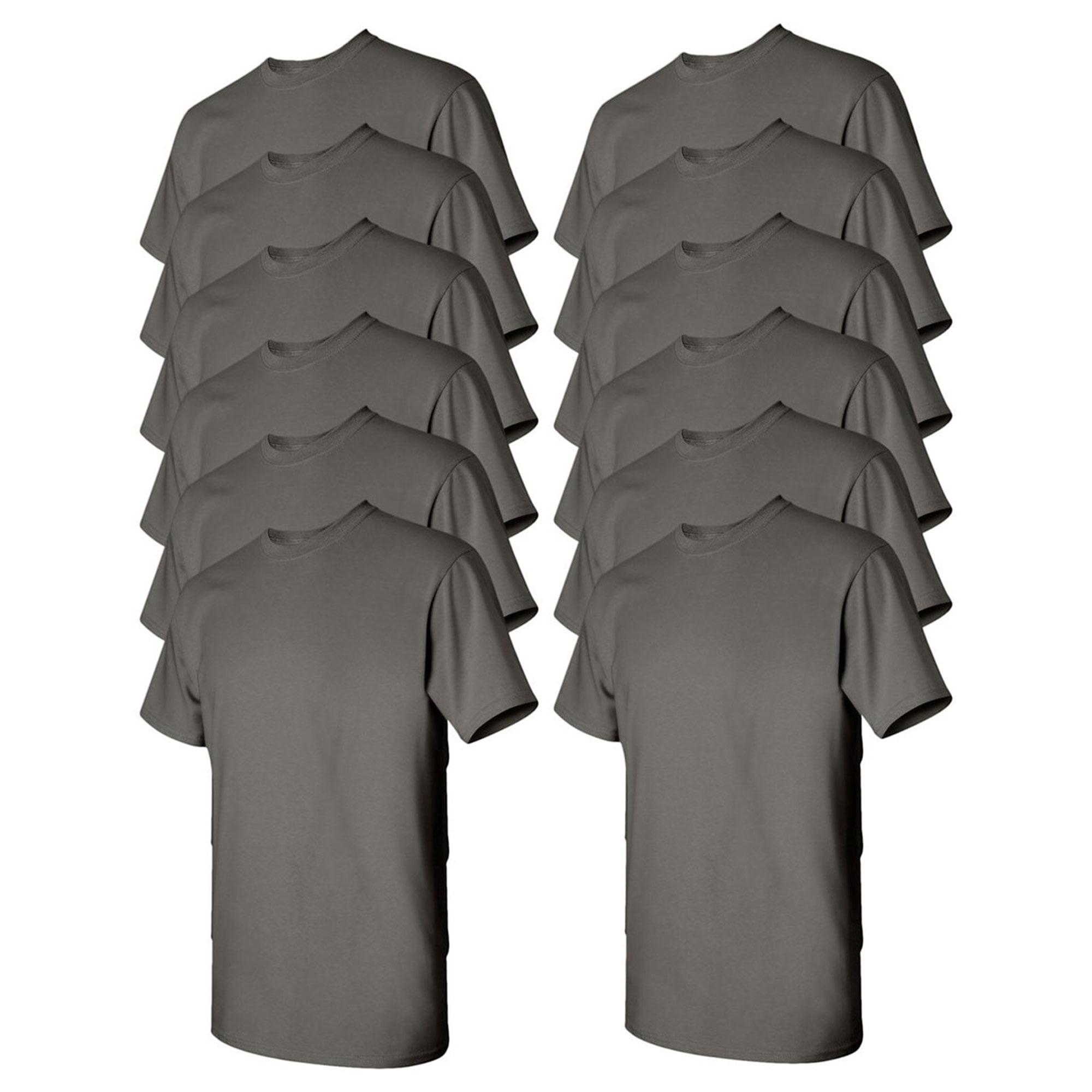 Gildan Mens Heavy Cotton T-Shirt, Pack of 10